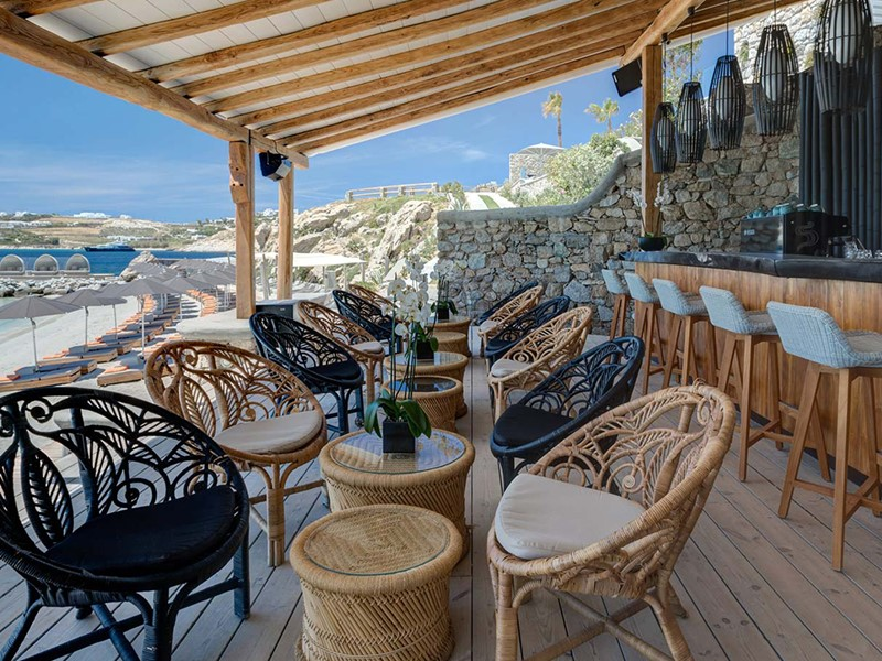 Le Santa Marina Beach Bar de l'hôtel Santa Marina