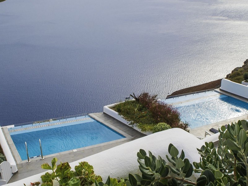Vue aérienne sur les piscines
