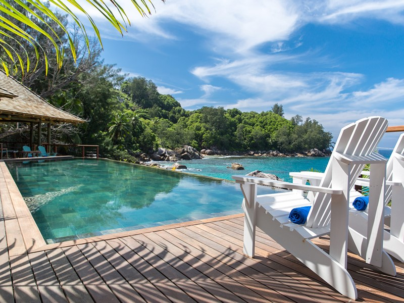 Superbe piscine du Sea Monkey aux Seychelles
