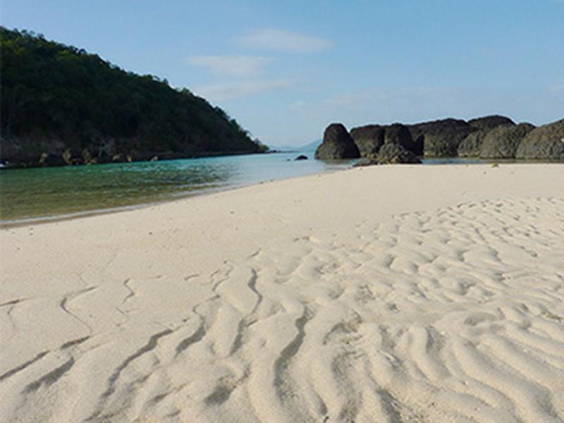 La plage où faire de jolies balades et profiter du soleil