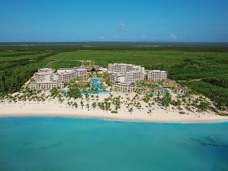 Vue aérienne du Secrets Cap Cana à Punta Cana
