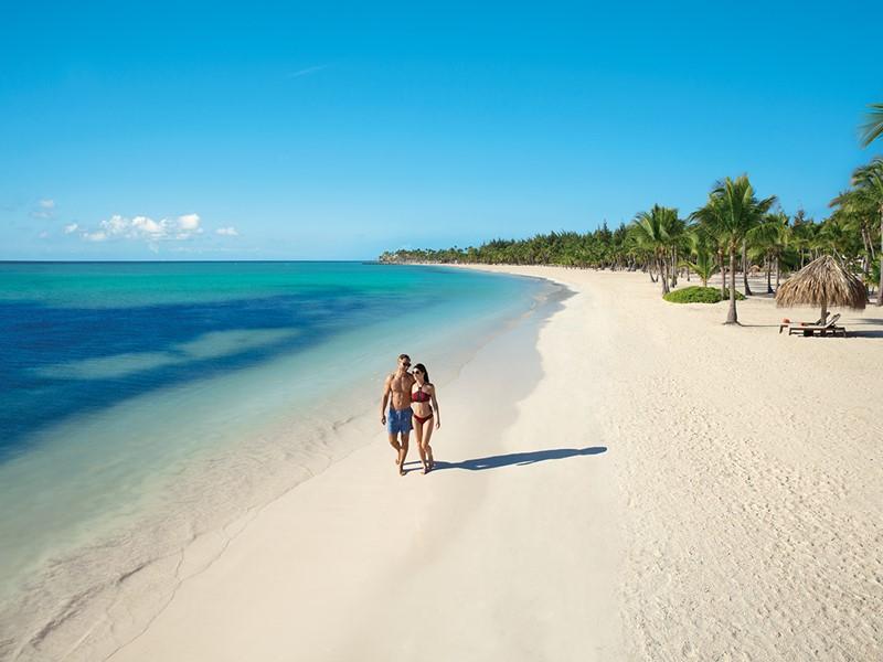La plage du Secrets Cap Cana, l'un des plus belles de la République Dominicaine