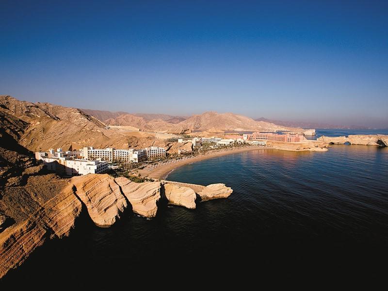 Vue aérienne de l'hôtel Shangri-La Al Bandar