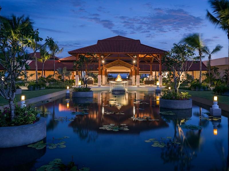 L'entrée du Shangri-La's Hambantota au Sri Lanka