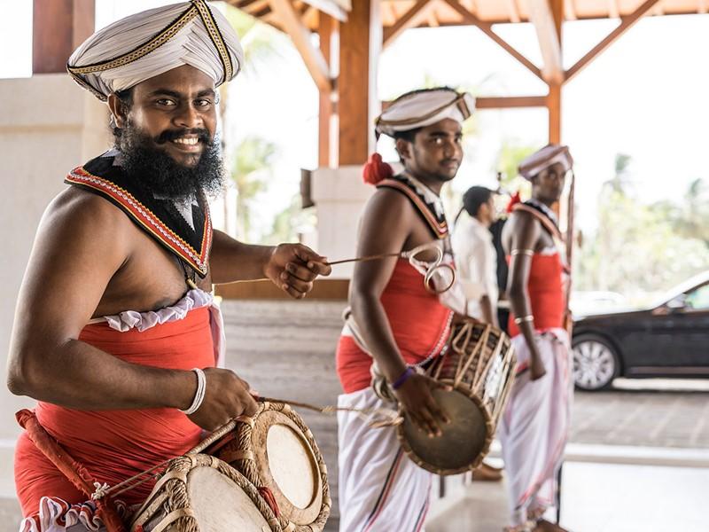 Ambiance traditionnelle à l'hôtel Shangri-La's Hambantota