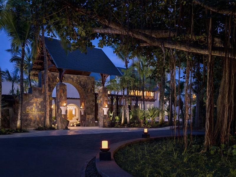 L'entrée du Shangri-La Le Touessrok Mauritius