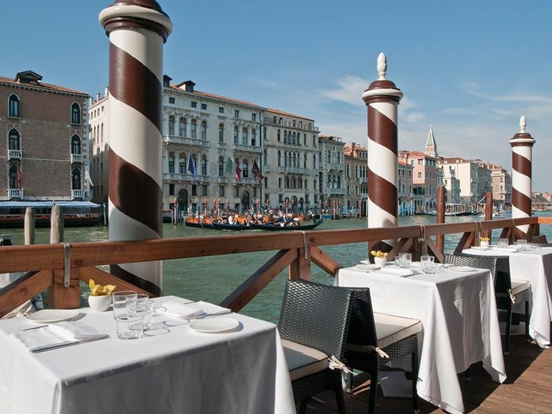 Somptueux repas face au Grand Canal