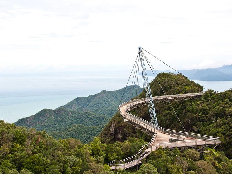 Le Langkawi Skybridge, vous fait profiter d'une superbe vue panoramique sur l'archipel