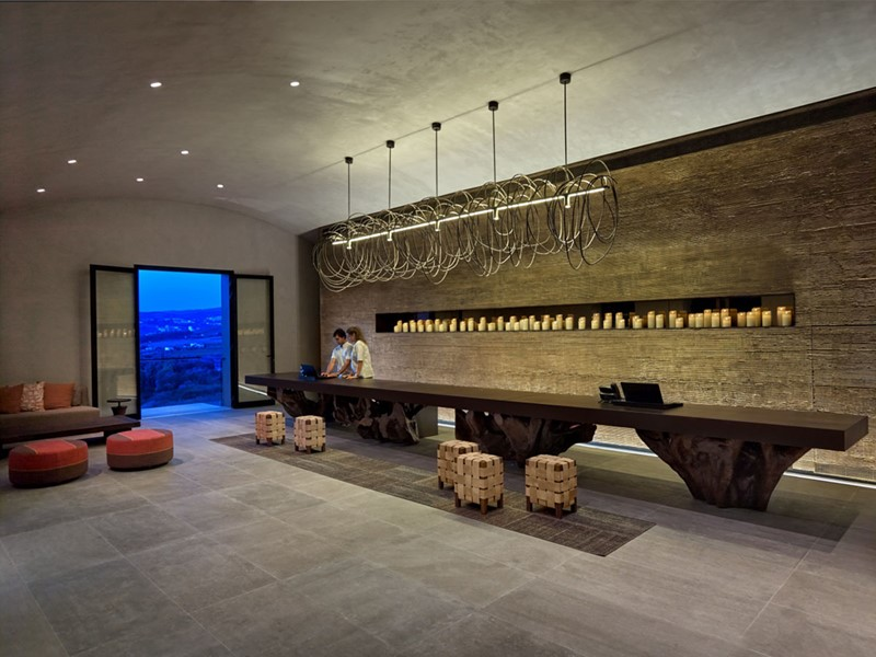 La réception de l'hôtel Six Senses Douro Valley