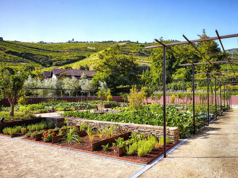 Jardin organique de l'hôtel Six Senses Douro Valley