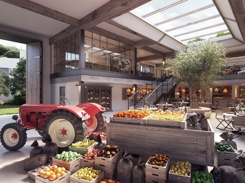 Le Farmers' Market, une récolte des champs de l'établissement