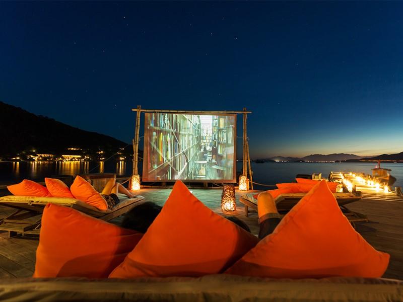 Cinéma sur la plage