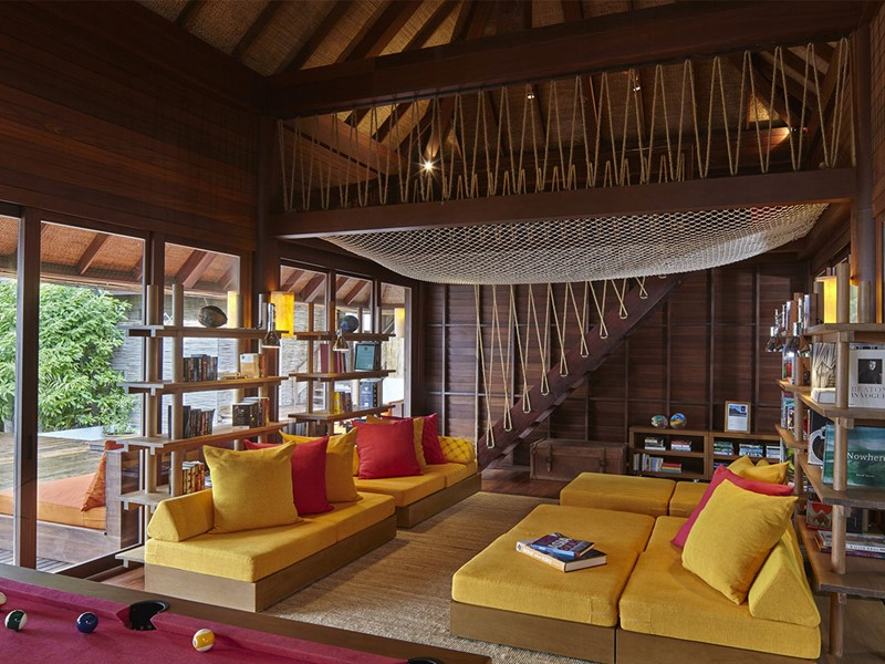 La bibliothèque du Six Senses Samui en Thailande