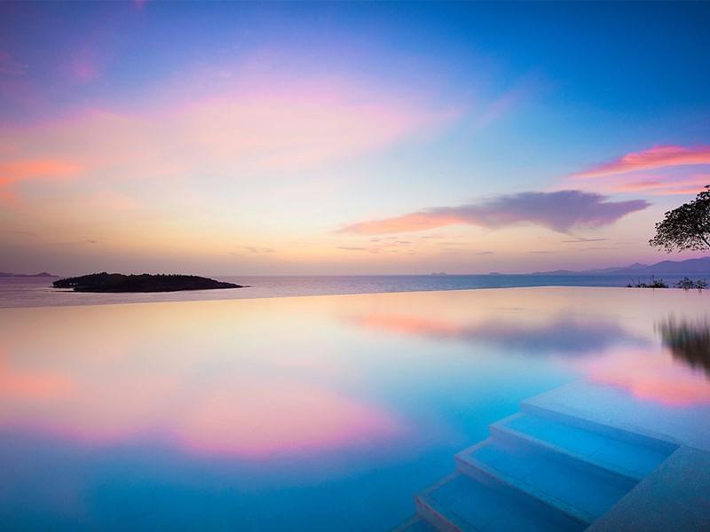 Autre vue de la piscine du Six Senses Samui en Thailande