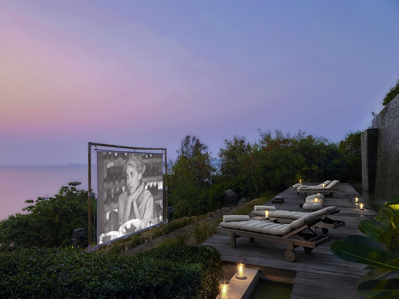Cinema Paradiso de l'hôtel Six Senses situé à Koh Samui
