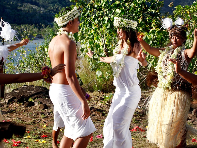 Ambiance typiquement polynésienne au Sofitel Bora Bora