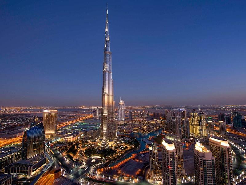 Vue de Palm Jumeirah à Dubaï