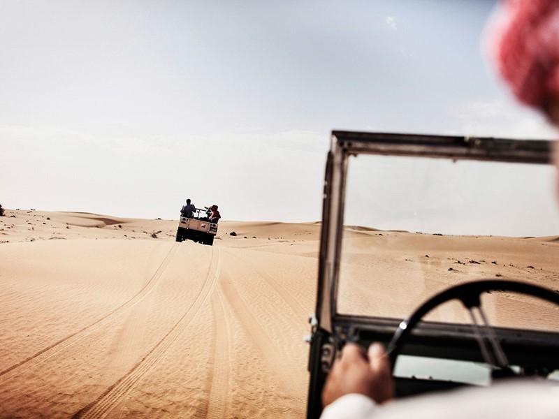 Balade dans le désert à proximité de l'hôtel Sofitel