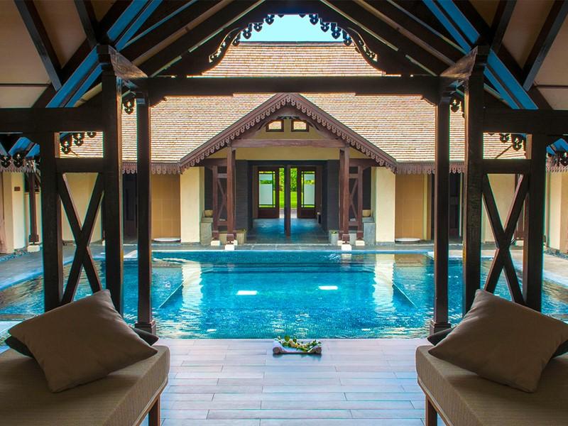 La piscine du spa du Sofitel L'Impérial à Flic en Flac