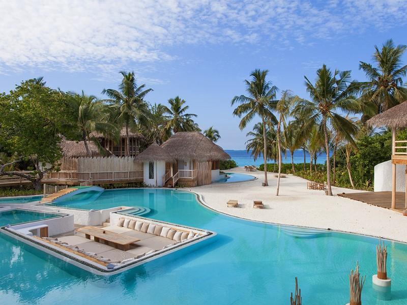Magnifique piscine de la Villa 11 du Soneva Fushi aux Maldives