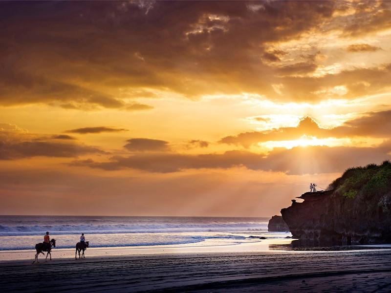 La plage de l'hôtel Soori à Bali