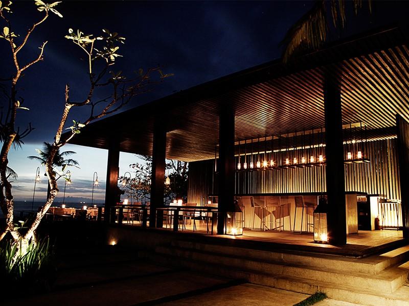 Le bar de l'hôtel Soori à Bali