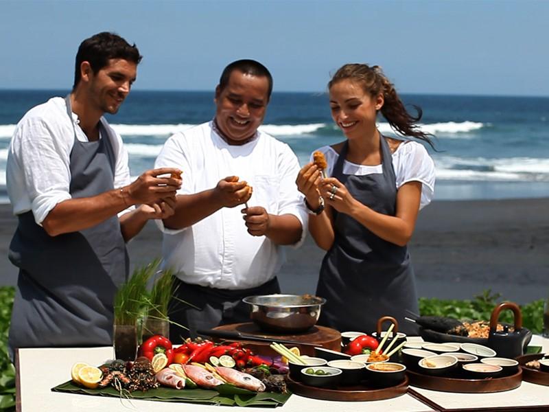 Cours de cuisine de l'hôtel Soori Bali