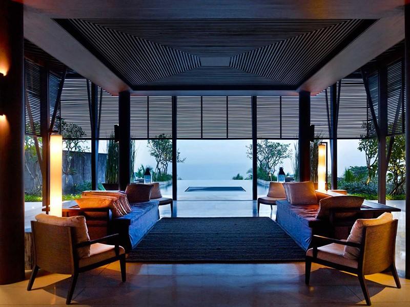 La réception du Soori Bali situé près de Tanah Lot