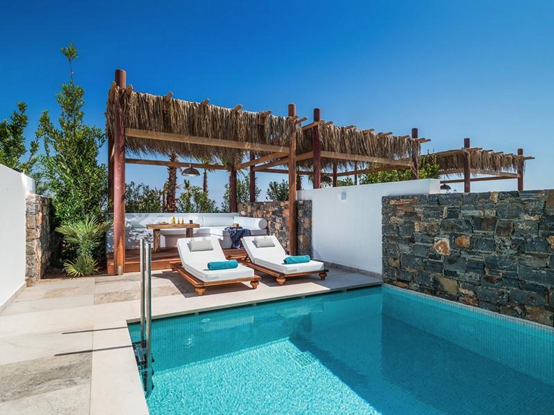 La piscine de l'Island Villa Private Pool du Stella Island