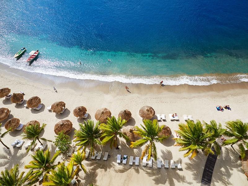 La plage de l'hôtel Sugar Beach
