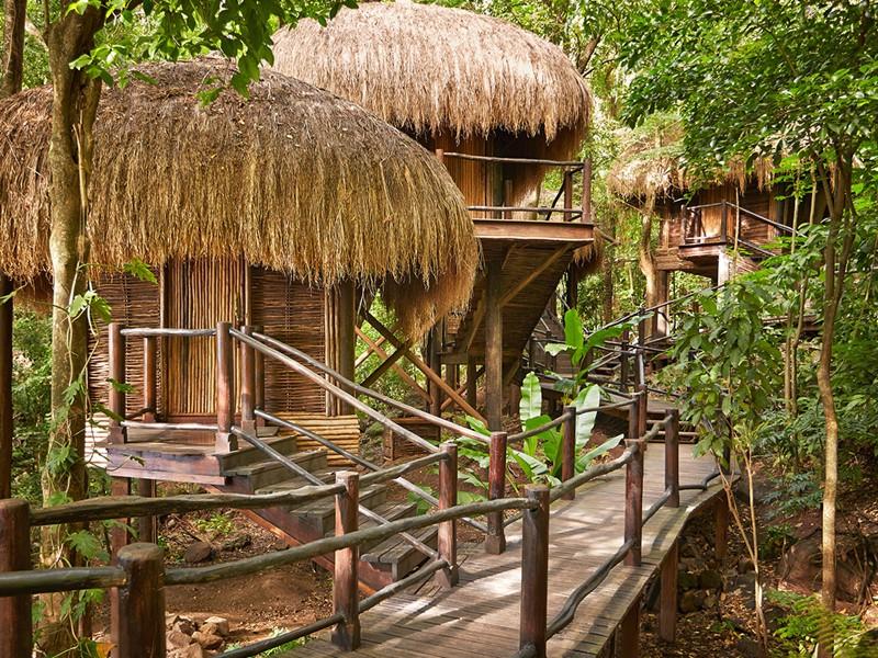 Exterieur du Rainforest Spa de l'hôtel Sugar Beach