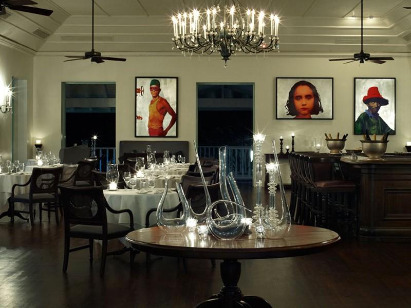 Restaurant de l'hôtel Sugar Beach aux Antilles