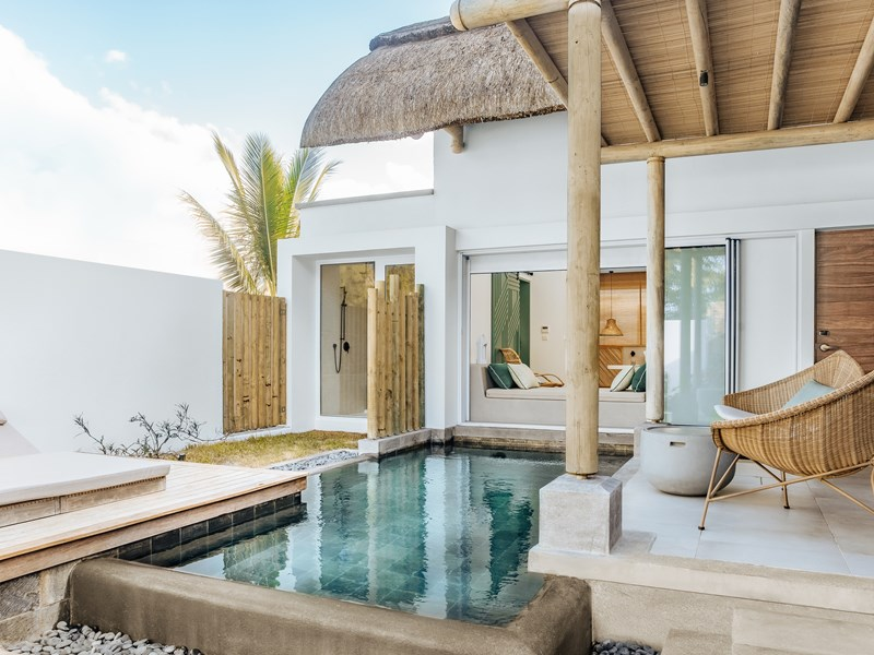 La villa de couple et sa piscine privée