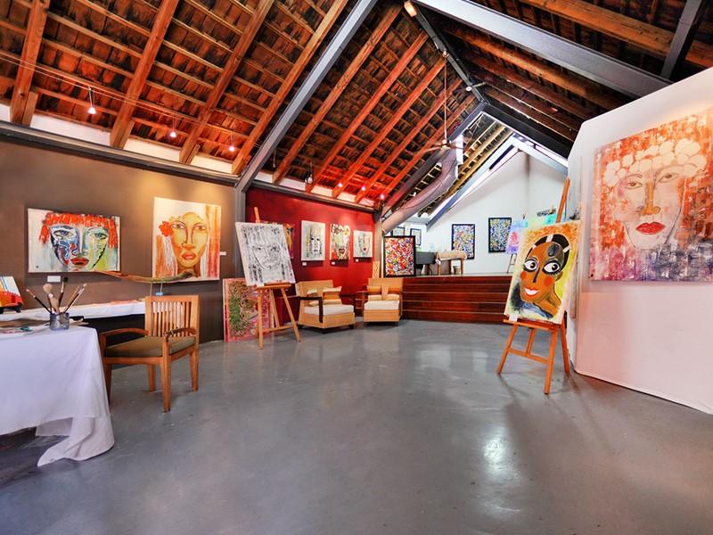La galerie d'art de l'hôtel