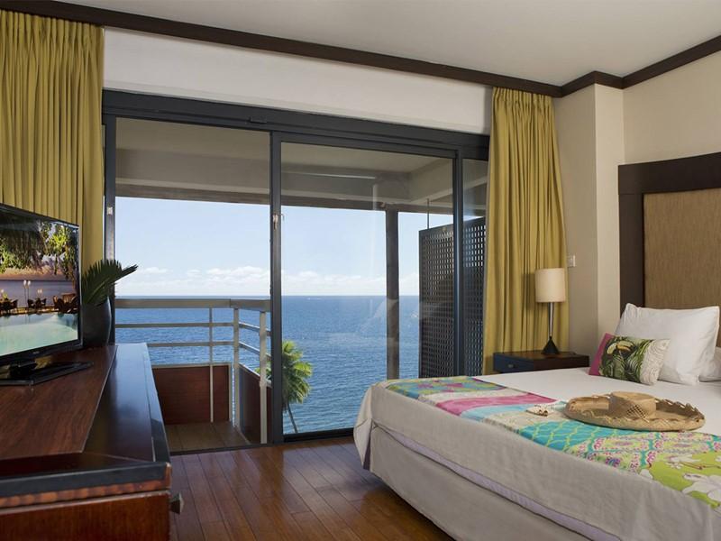 Premium Deluxe Ocean View Room de l'hôtel Tahiti Pearl en Polynésie