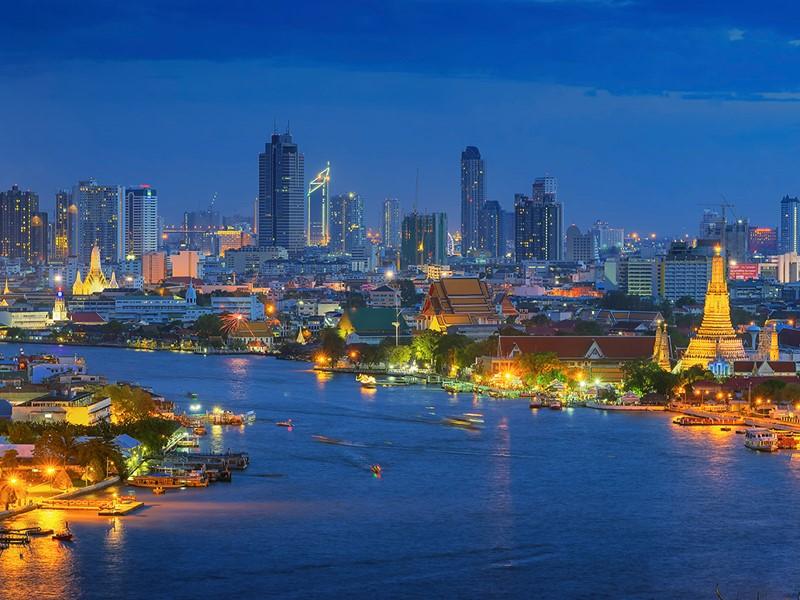 Vue générale de Bangkok