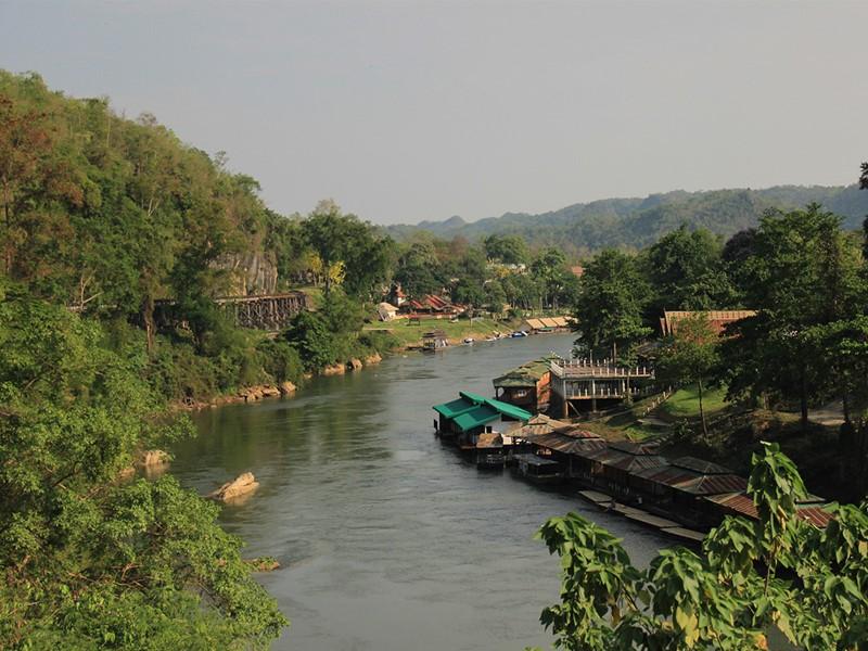Rivière à Kanchanaburi