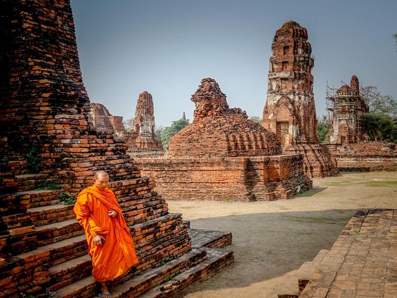Ayutthaya, les temples et le vestige d'une culture