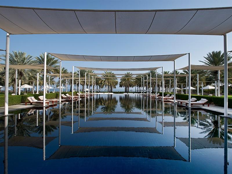 La piscine de l'hôtel The Chedi à Oman
