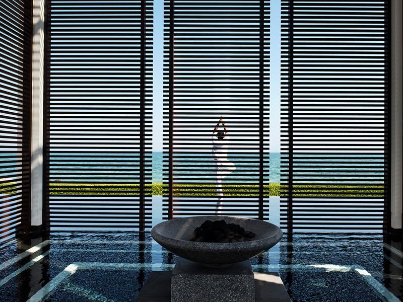 Yoga à l'hôtel The Chedi situé à Mascate