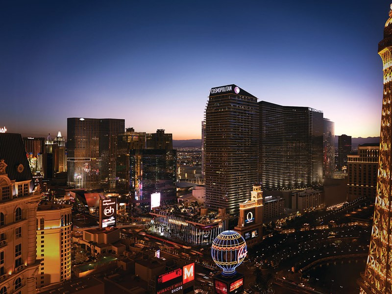 Vue de la mythique ville de Las Vegas aux Etats-Unis