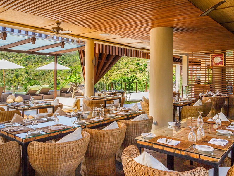 Safka Restaurant de l'hôtel The Griya à Amed