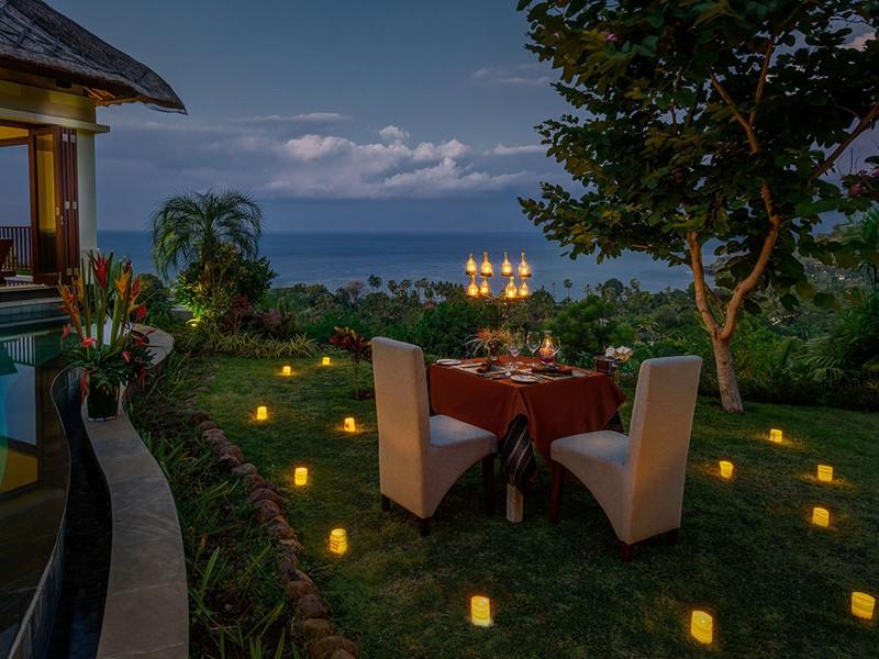 Dîner romantique à l'hôtel The Griya à Bali