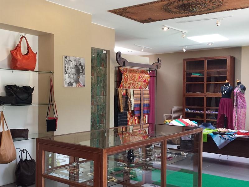 La boutique de l'hôtel The Griya, à Amed