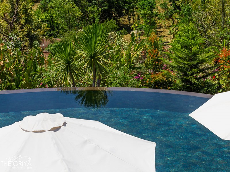 Autre vue de la piscine de l'hôtel The Griya