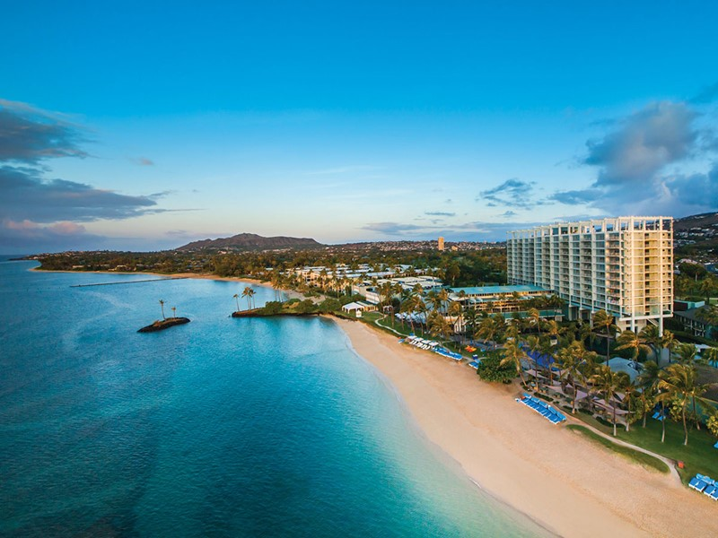 Vue aérienne du Kahala Hotel situé sur l'île d'Hawaii