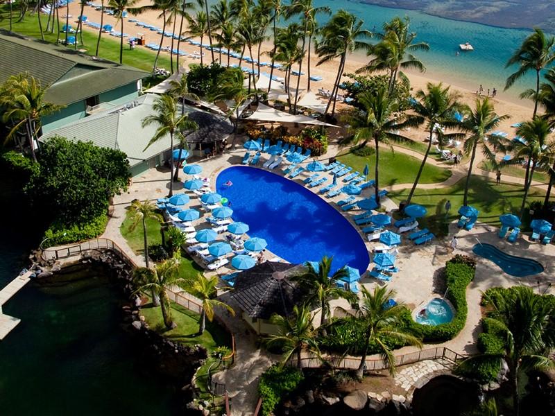 La superbe piscine de l'hôtel Kahala à Hawaii
