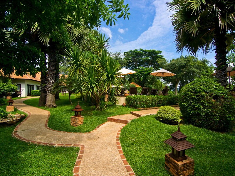 Jardin du Legend Chiang Rai Boutique Resort en Thailande