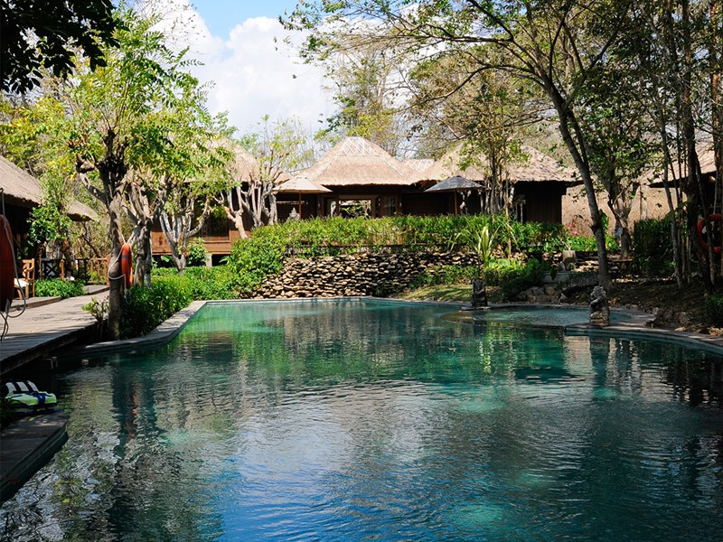 La piscine du Menjangan situé à Bali