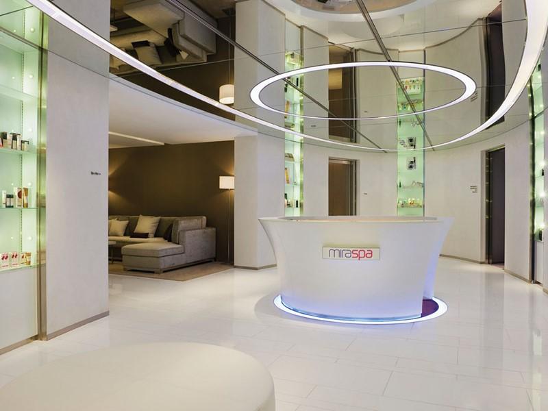 La réception du spa de l'hôtel 5 étoiles The Mira